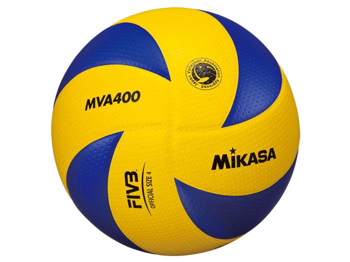 MIKASA バレーボール 検定球4号 (バレーボール ボール 4号球)イエロー×ブルー【スポーツ用品 > チーム スポーツ > バレーボール】【MIKASA/ミカサ】/MVA400