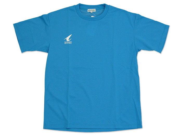 つくばユナイテッド プラクティスTEAMシャツ (バレーボール プラクティスウェアー メンズ半袖Tシャツ)ライトブルー【スポーツ用品 > チーム スポーツ > バレーボール】つくばユナイテッド/P04