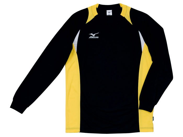 MIZUNO 長袖バレーゲームシャツ(ユニセックス) (バレーボール ゲームウェアー メンズゲームシャツ)ブラック×イエロー(94)【スポーツ用品 > チーム スポーツ > バレーボール】【MIZUNO/ミズノ】/59SV324