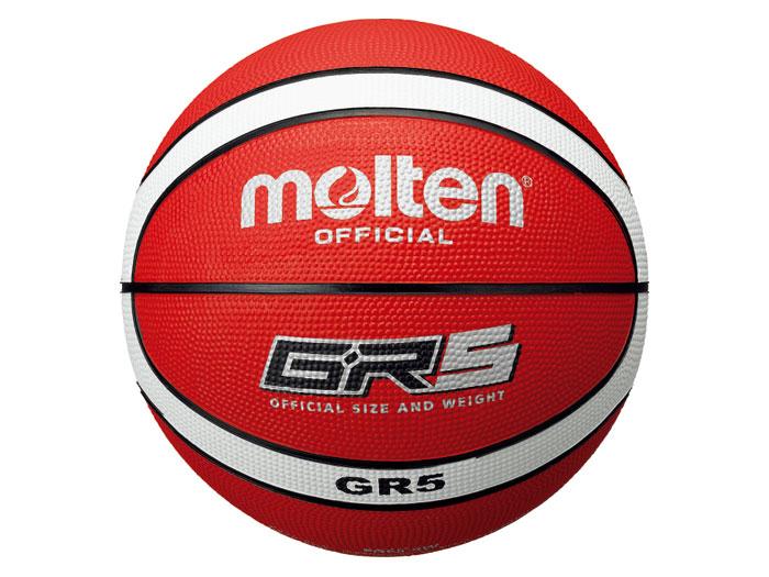 molten GR5 (バスケットボール ボール 5号球)レッド×ホワイト【スポーツ用品 > チーム スポーツ > バスケットボール】【molten/モルテン】/BGR5-RW