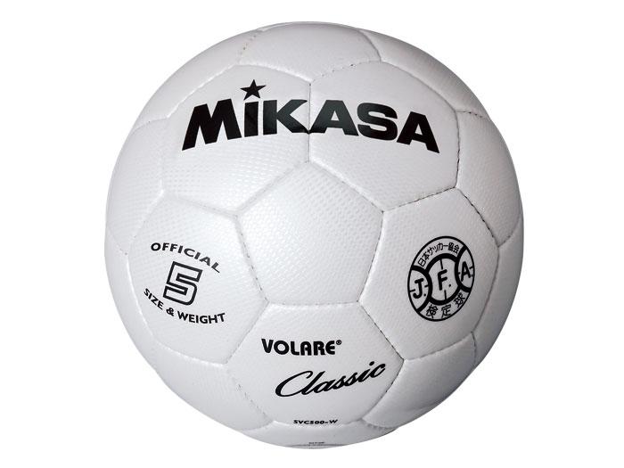 MIKASA サッカーボール 検定球 5号 (フットサル&サッカー ボール サッカーボール5号球)ホワイト(W)【スポーツ用品 > チーム スポーツ > サッカー】【MIKASA/ミカサ】/SVC500