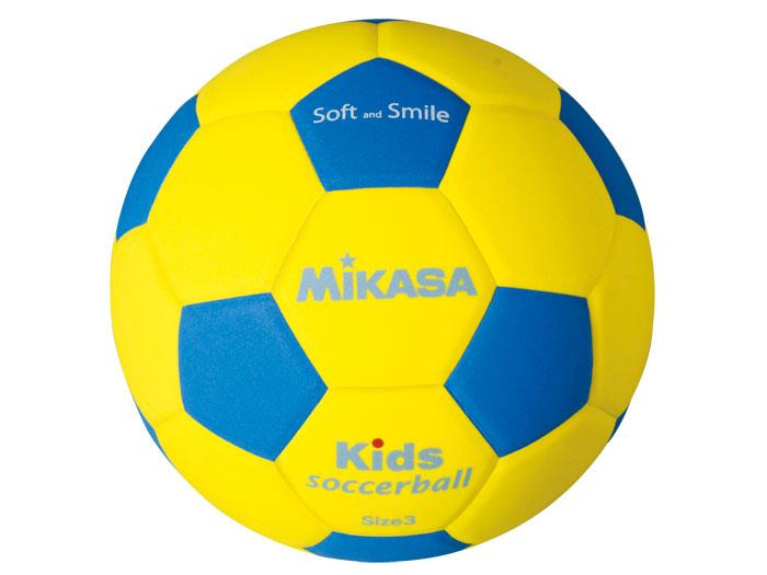 MIKASA キッズサッカー軽量3号 (フットサル&サッカー ボール サッカーボール4号球)イエロー×ブルー【スポーツ用品 > チーム スポーツ > サッカー】【MIKASA/ミカサ】/SF3