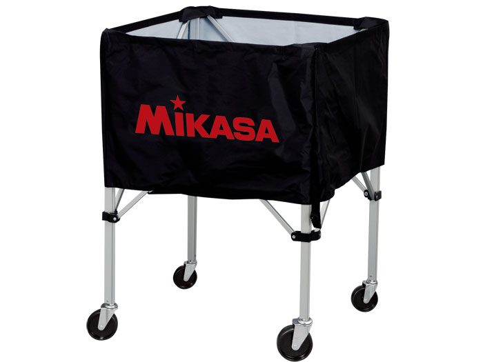 MIKASA ワンタッチ式ボ-ルカゴ(背高) (バスケットボール ボール アクセサリー・グッズ)ブラック(BK)【スポーツ用品 > チーム スポーツ > バスケットボール】【MIKASA/ミカサ】/BCSPH