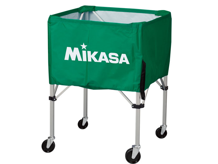 MIKASA ワンタッチ式ボ-ルカゴ(背高) (バスケットボール ボール アクセサリー・グッズ)グリーン(G)【スポーツ用品 > チーム スポーツ > バスケットボール】【MIKASA/ミカサ】/BCSPH