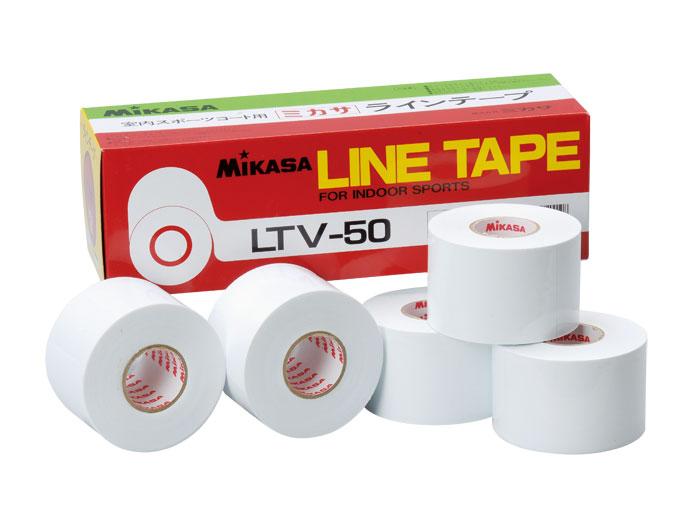 MIKASA ラインテープ (バスケットボール アクセサリー・グッズ その他)ホワイト(W)【スポーツ用品 > チーム スポーツ > バスケットボール】【MIKASA/ミカサ】/LTV50