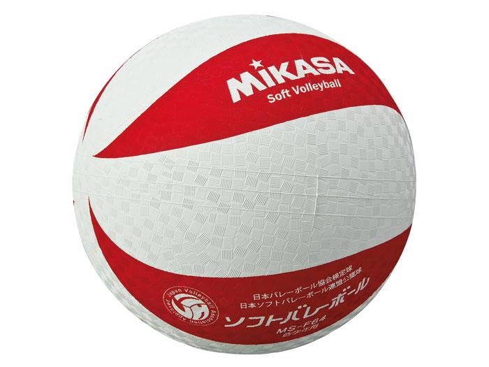 MIKASA カラーソフトバレーボール (バレーボール ボール ソフトバレーボール)ホワイト×レッド(WR)【スポーツ用品 > チーム スポーツ > バレーボール】【MIKASA/ミカサ】/MSF64