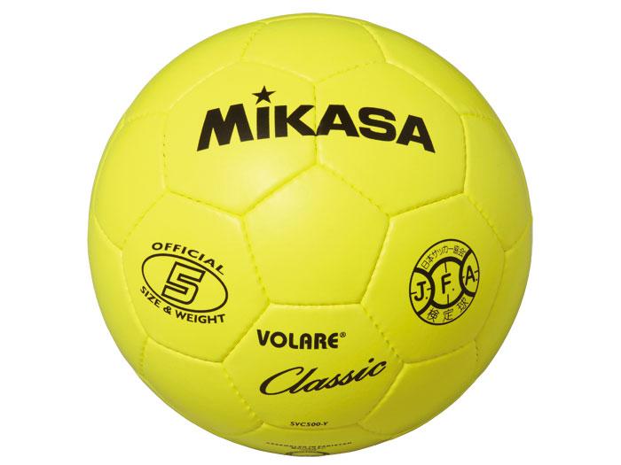 MIKASA サッカーボール 検定球 5号 (フットサル&サッカー ボール サッカーボール5号球)イエロー(Y)【スポーツ用品 > チーム スポーツ > サッカー】【MIKASA/ミカサ】/SVC500