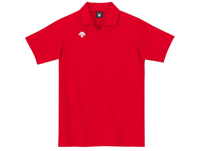 DESCENTE 半袖ゲームシャツ (バレーボール ゲームウェアー メンズゲームシャツ)レッド(RED)【スポーツ用品 > チーム スポーツ > バレーボール】【DESCENTE/デサント】/DSS-4320