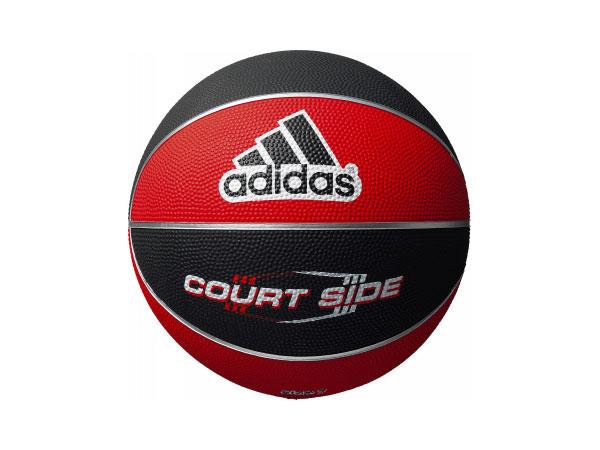 adidas コートサイド 7号球 (バスケットボール ボール 7号球)ブラック×レッド【スポーツ用品 > チーム スポーツ > バスケットボール】【adidas/アディダス】/AB7122RBK