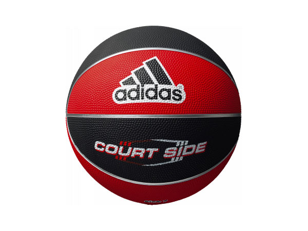 adidas コートサイド 6号球 (バスケットボール ボール 6号球)ブラック×レッド【スポーツ用品 > チーム スポーツ > バスケットボール】【adidas/アディダス】/AB6122RBK
