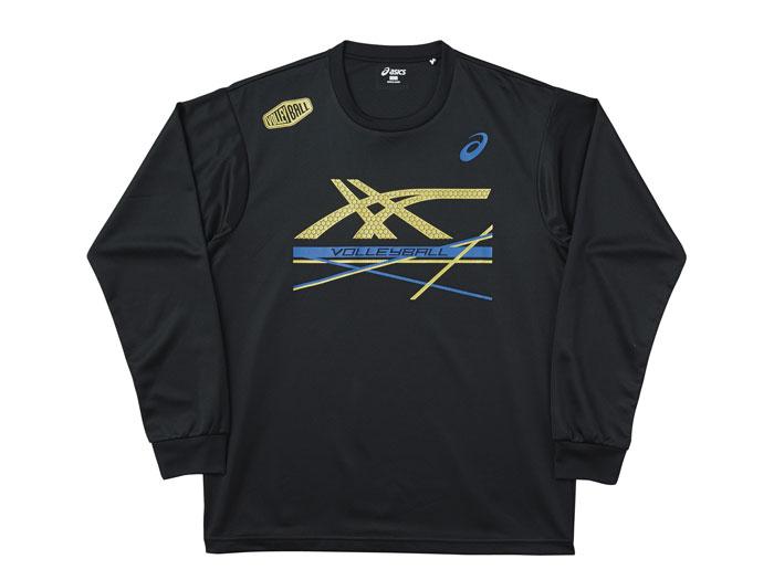 ASICS プリントTシャツNS (バレーボール プラクティスウェアー メンズ長袖Tシャツ)【スポーツ用品 > チーム スポーツ > バレーボール】【ASICS/アシックス】/XW671N