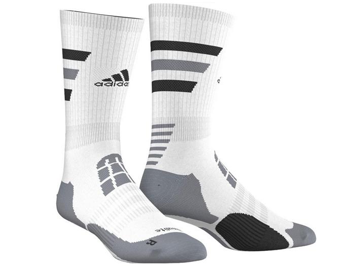 adidas BASKET ID クルーソックス (バスケットボール プラクティスウェアー ソックス)ホワイト×ホワイト×ブラック【スポーツ用品 > チーム スポーツ > バスケットボール】【adidas/アディダス】/M64570