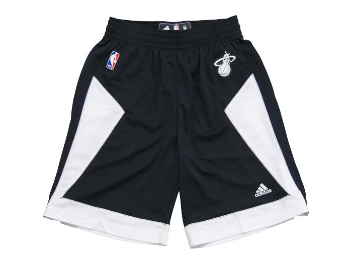 adidas NBA SWINGMAN SHORT (バスケットボール NBA スウィングマンジャージ)HEAT(ブラック×ホワイト)【スポーツ用品 > チーム スポーツ > バスケットボール】【adidas/アディダス】/505PA