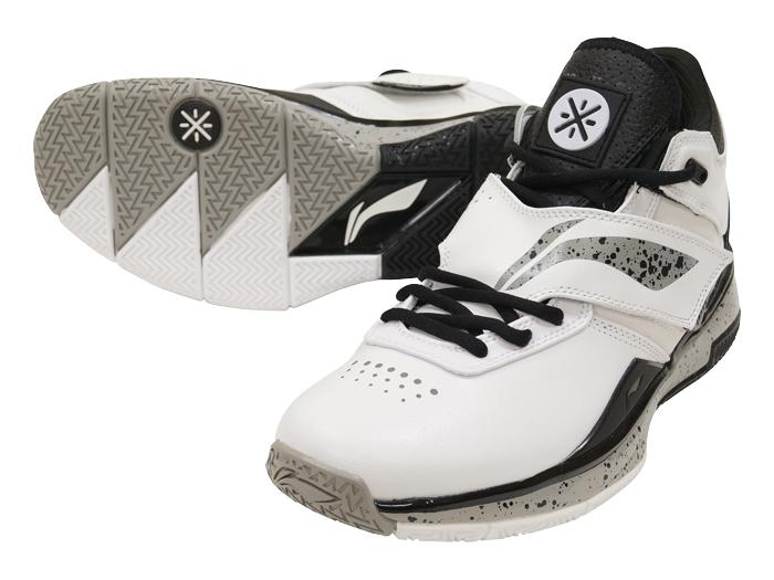 LI-NING WADE 808 (バスケットボール シューズ シューズ)ホワイト×クールグレー(9)【スポーツ用品 > チーム スポーツ > バスケットボール】【LI-NING/リーニン】/ABAK011
