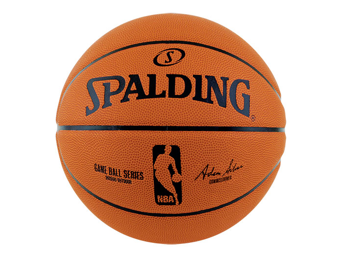 SPALDING NBA ゲームボール レプリカ 7号球 (バスケットボール ボール 7号球)ブラウン【スポーツ用品 > チーム スポーツ > バスケットボール】【SPALDING/スポルディング】/83-044Z