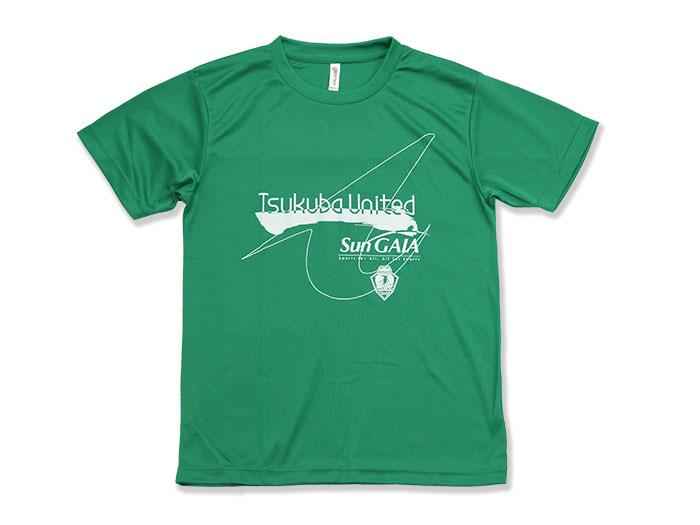 つくばユナイテッド Sun GAIA サポーターTシャツ (バレーボール つくばユナイテッド プラクティスシャツ)グリーン【スポーツ用品 > チーム スポーツ > バレーボール】つくばユナイテッド/P07