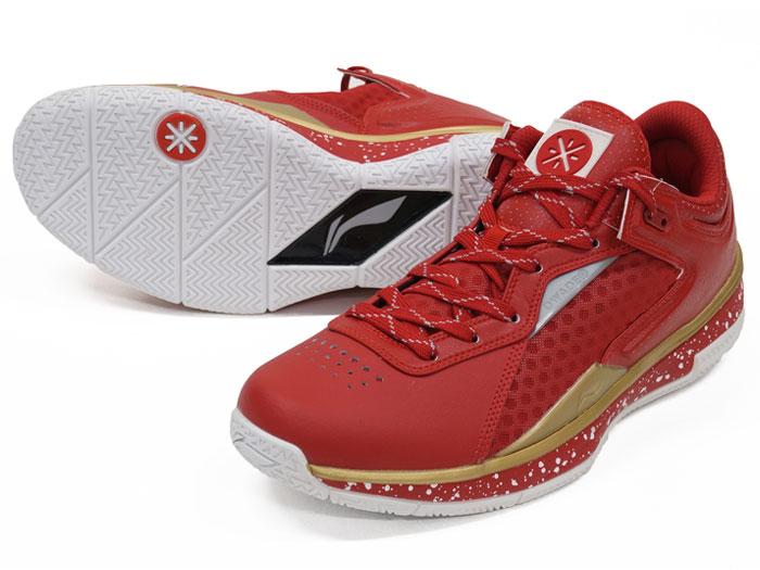 LI-NING WADE 0808 LOW (バスケットボール シューズ シューズ)RED/GOLD【スポーツ用品 > チーム スポーツ > バスケットボール】【LI-NING/リーニン】/ABAK021