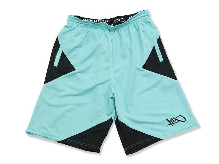 K1X core X-shorts (バスケットボール プラクティスウェアー プラクティスパンツ)ミント×ブラック(3009)【スポーツ用品 > チーム スポーツ > バスケットボール】【K1X/ケイワンエックス】/1400-0251