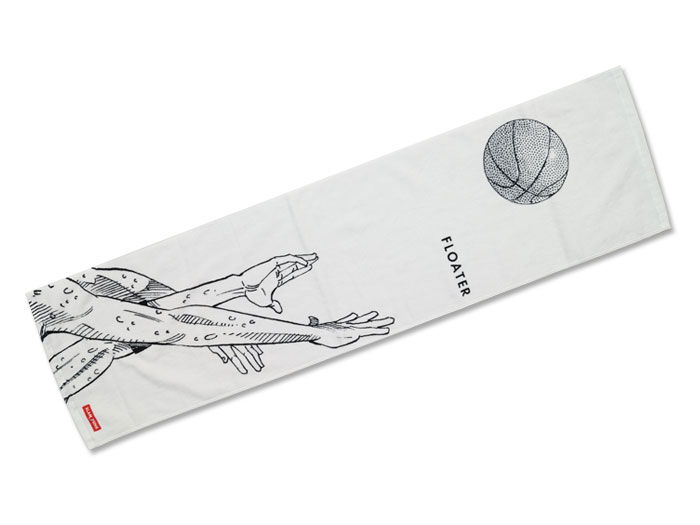 SLAM DUNK スポーツタオル【FLOATER】 (バスケットボール INOUE TAKEHIKO GOODS)ホワイト【スポーツ用品 > チーム スポーツ > バスケットボール】【GALLERY・2】/DTWL-04