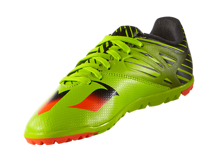 adidas メッシ15.3 TF J (フットサル&サッカー レディス&ジュニア フットサル&サッカーシューズ)セミソーラースライム/ソーラーレッド/コアブラック【スポーツ用品 > チーム スポーツ > サッカー】【adidas/アディダス】/S74697