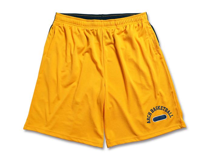 Arch work out shorts (バスケットボール プラクティスウェアー プラクティスパンツ)yellow【スポーツ用品 > チーム スポーツ > バスケットボール】【Arch/アーチ】/B16-011