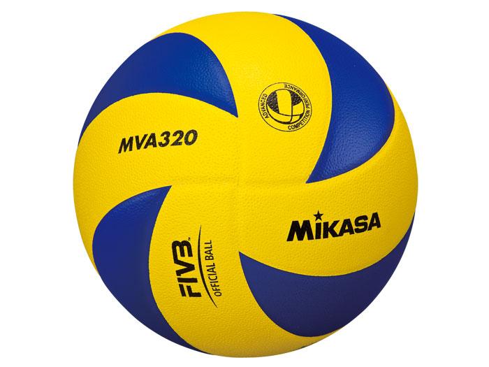 MIKASA MVA320練習球5号 (バレーボール ボール 5号球)イエロー×ブルー【スポーツ用品 > チーム スポーツ > バレーボール】【MIKASA/ミカサ】/MVA320