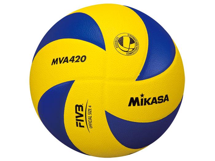 MIKASA MVA420練習球4号 (バレーボール ボール 4号球)イエロー×ブルー【スポーツ用品 > チーム スポーツ > バレーボール】【MIKASA/ミカサ】/MVA420