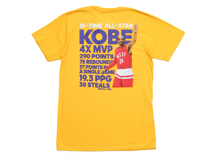 adidas KobeBryant24 18-Time ALL Star Tee (バスケットボール Tシャツ 半袖Tシャツ)GOLD【スポーツ用品 > チーム スポーツ > バスケットボール】【adidas/アディダス】/3720A-KOBE24