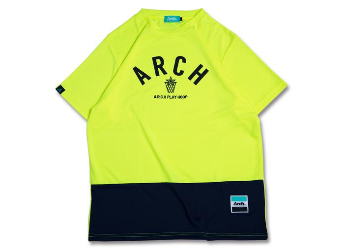 Arch Arch bi-color BB tee[DRY] (バスケットボール プラクティスウェアー 半袖Tシャツ)neon yellow【スポーツ用品 > チーム スポーツ > バスケットボール】【Arch/アーチ】/T16-026