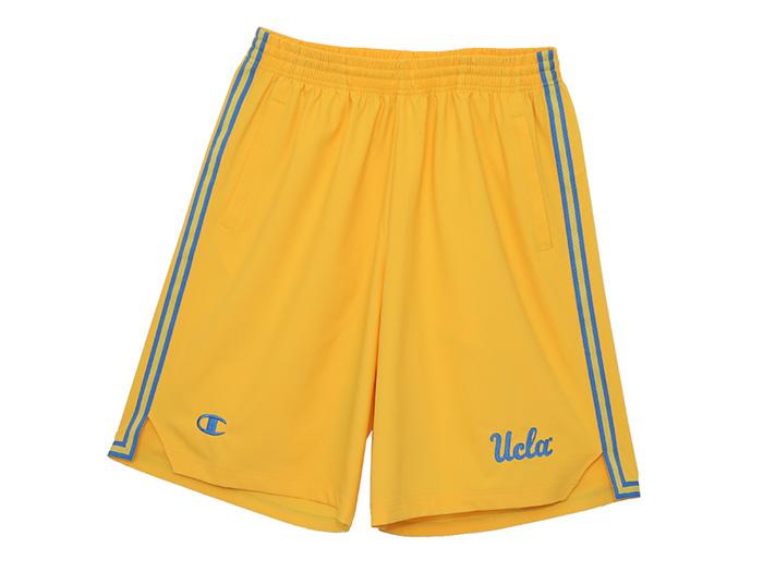 Champion UCLA ストレッチクロスショーツ  (バスケットボール プラクティスウェアー プラクティスパンツ)イエロー(740)【スポーツ用品 > チーム スポーツ > バスケットボール】【Champion/チャンピオン】/C3-JB560