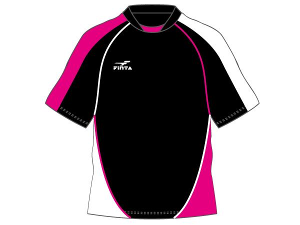 FINTA ゲームシャツ (フットサル&サッカー ユニフォーム ゲームシャツ)ブラック×ピンク×ホワイト(005)【スポーツ用品 > チーム スポーツ > サッカー】【FINTA/フィンタ】/FT5526