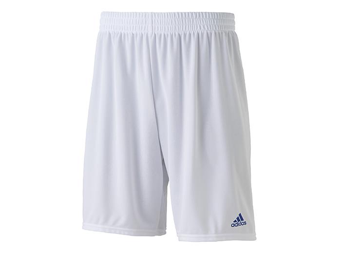 adidas BASIC ゲームショーツ(ロング) (フットサル&サッカー ユニフォーム ゲームパンツ)ホワイト/ロイヤル【スポーツ用品 > チーム スポーツ > サッカー】【adidas/アディダス】/BQ0676