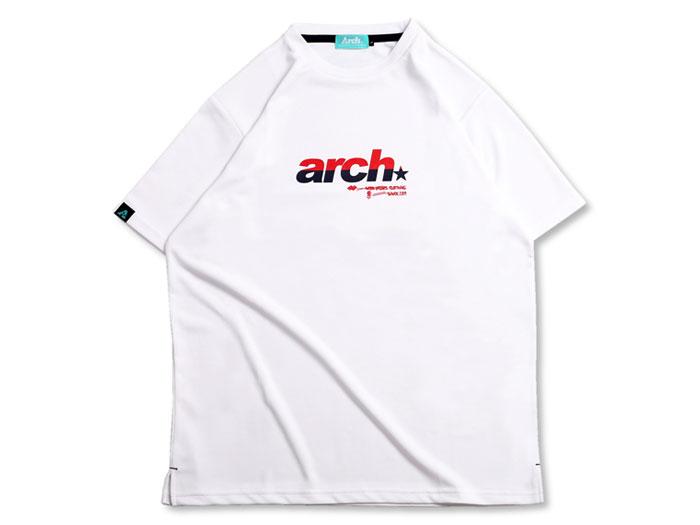 Arch Arch split sporty logo tee[DRY] (バスケットボール プラクティスウェアー 半袖Tシャツ)【スポーツ用品 > チーム スポーツ > バスケットボール】【Arch/アーチ】/T17-007