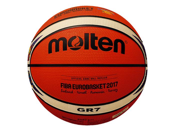 molten ユーロバスケット2017 レプリカゴム 7号球 (バスケットボール ボール 7号球)【スポーツ用品 > チーム スポーツ > バスケットボール】【molten/モルテン】/BGR7-E7T
