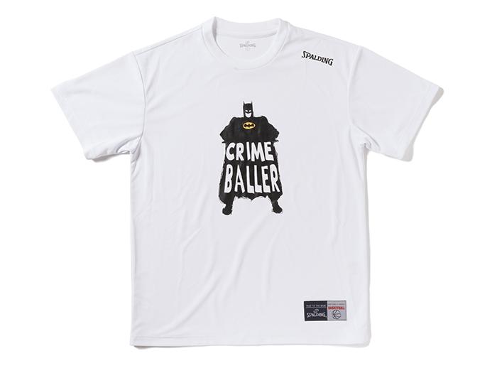 SPALDING Tシャツ-CRIME BALLER (バスケットボール プラクティスウェアー 半袖Tシャツ)【スポーツ用品 > チーム スポーツ > バスケットボール】【SPALDING/スポルディング】/SMT171220