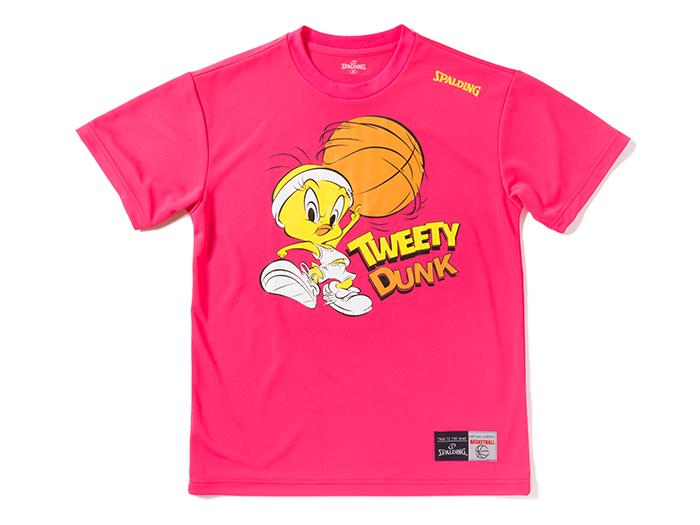 SPALDING Tシャツ-TWEETY DUNK (バスケットボール プラクティスウェアー 半袖Tシャツ)【スポーツ用品 > チーム スポーツ > バスケットボール】【SPALDING/スポルディング】/SMT171250