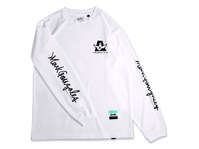 Arch Mark Gonzales x Arch cursive MG L/S tee[DRY] (バスケットボール プラクティスウェアー 長袖Tシャツ)【スポーツ用品 > チーム スポーツ > バスケットボール】【Arch/アーチ】/T37-M01