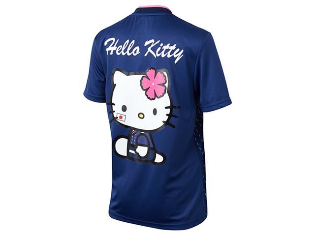 Hello Kittyマーキング付き なでしこジャパン ホーム レプリカユニフォーム半袖