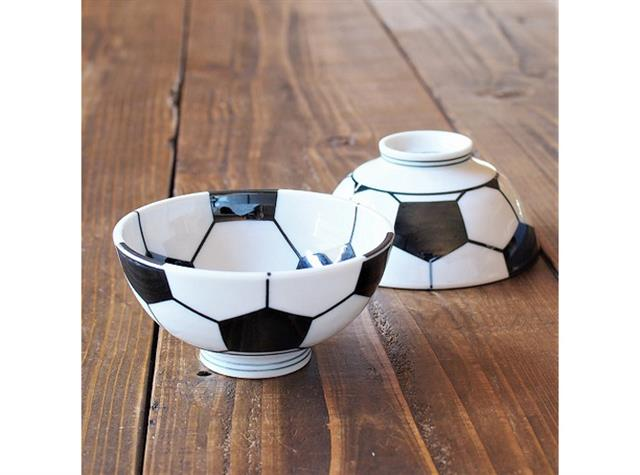サッカーボール美濃焼茶碗