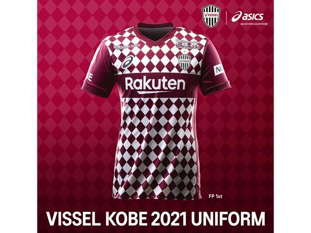 ASICS ヴィッセル神戸2021 1ST 半袖レプリカユニフォーム   フットサル ...