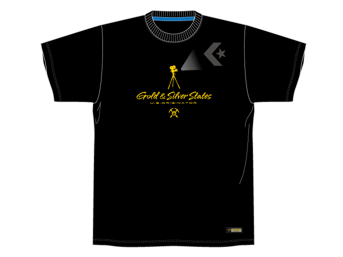 CONVERSE GOLD&SILVER STATES プリントTシャツ