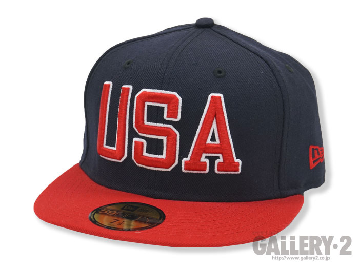 NEW ERA 5950 NE USA NAVY/SCARLET