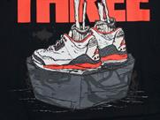 JORDAN AJ III CEMENT SHOES TEE(詳細画像)