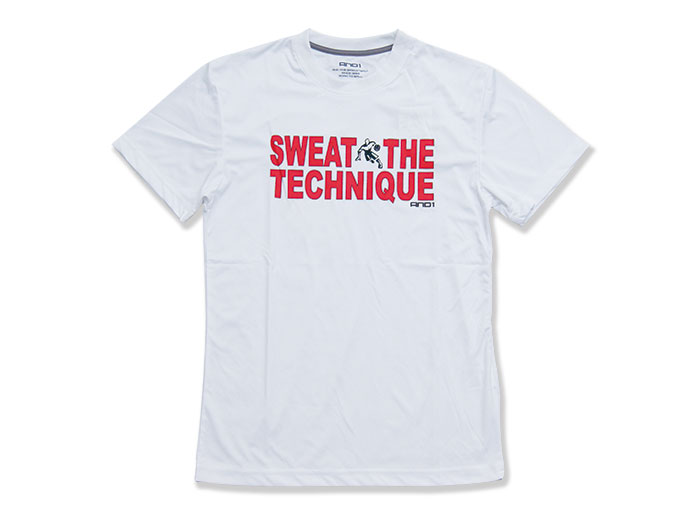 AND1 SWEAT THE TECHNIQUE TEE
