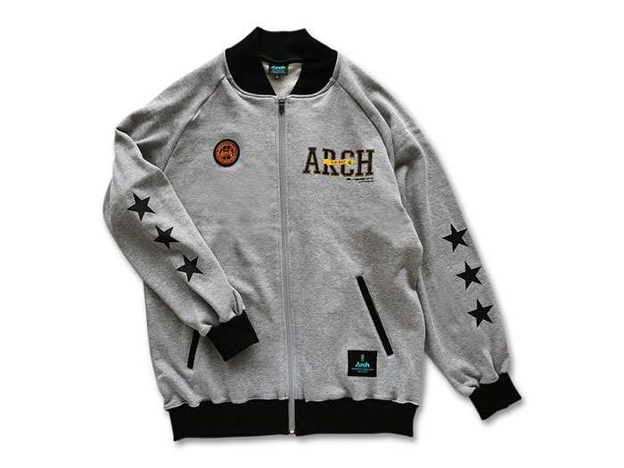 Arch Arch stitch logo sweat jacket