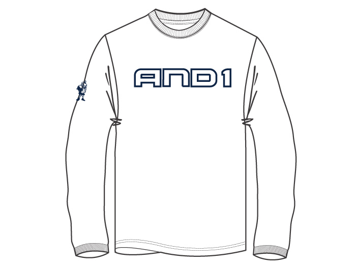 AND1 GRAB A RIM L/S TEE