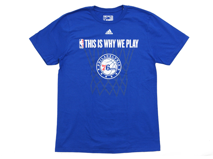 adidas THIS IS WHY WE PLAY TEE【76ERS】