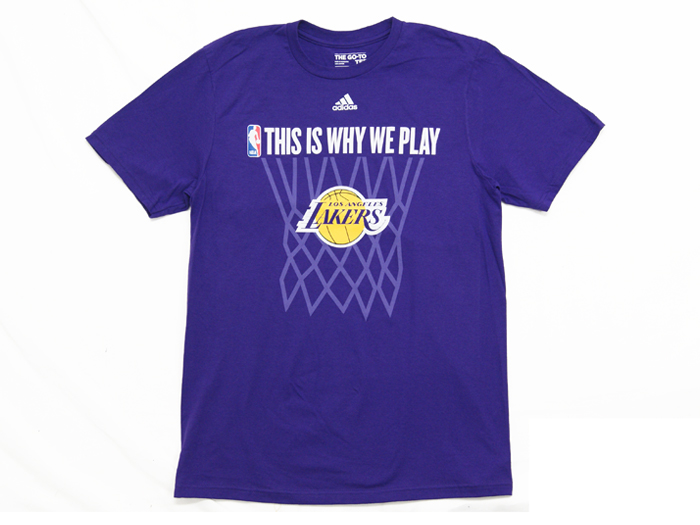 adidas THIS IS WHY WE PLAY TEE【LAKERS】