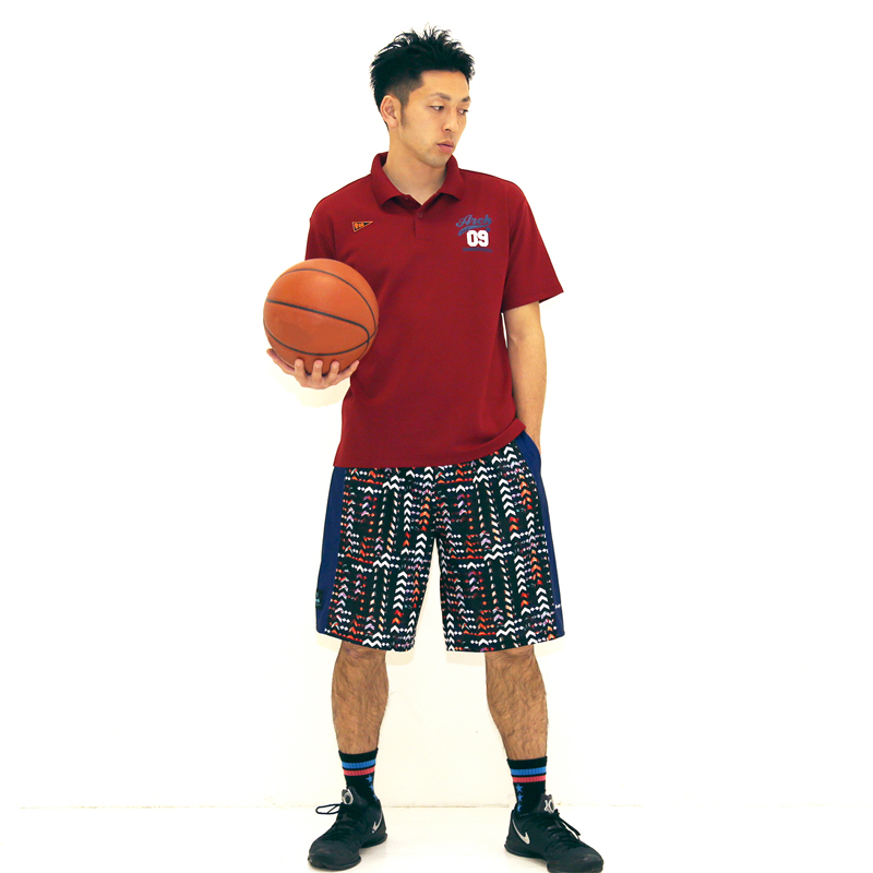 Arch light effect jagged shorts(ワンポイント画像)