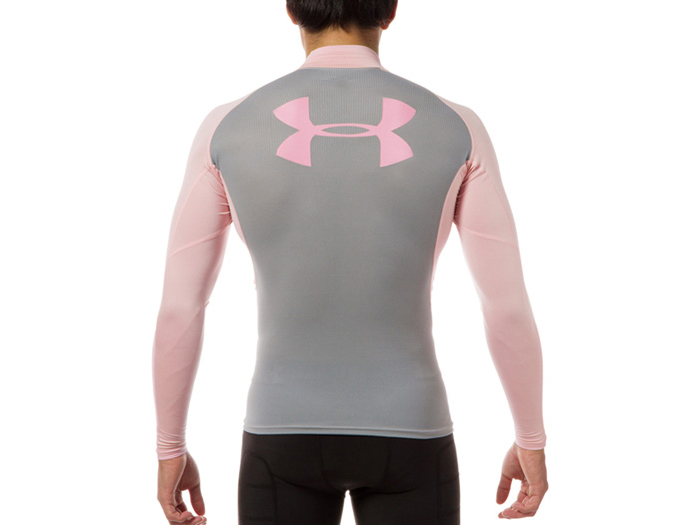 UNDER ARMOUR UA HEATGEAR ARMOUR LSモックビッグロゴII